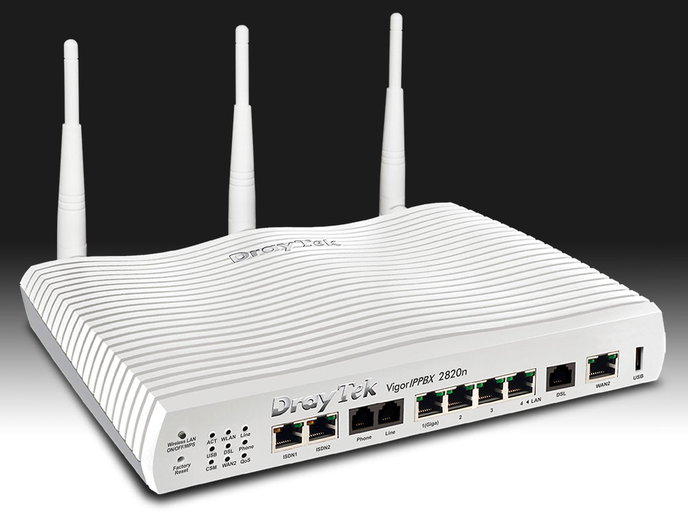 Drivers for DrayTek VigorIPPBX 2820n (Annex A 244001) IP PBX Router