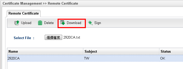 download cert