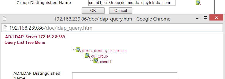 a screenshot of AD/LDAP setup