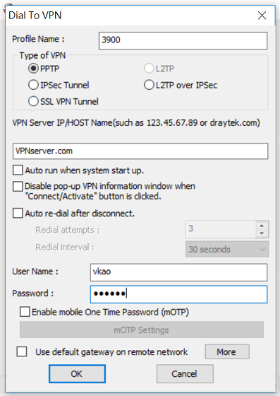 a screenshot of Windows Smart VPN Client