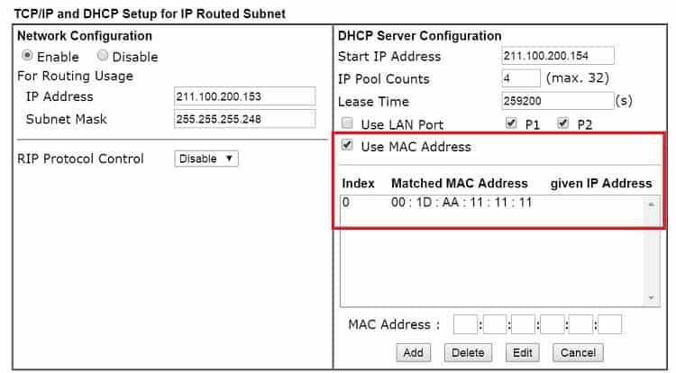 a screenshot of DrayOS IP Routed Subnet Details Page