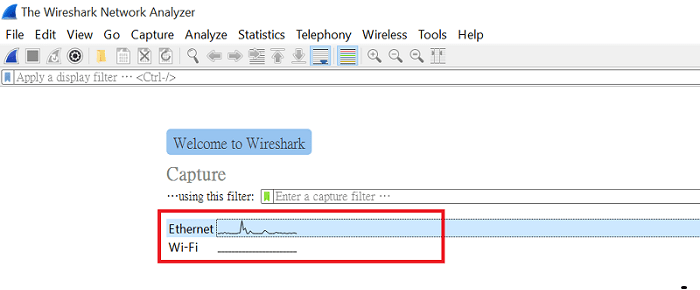 a screenshot of Wireshark