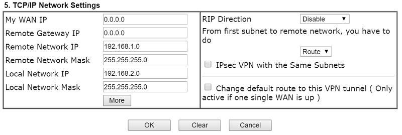 a screenshot of VPN Settings