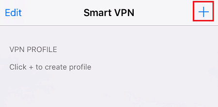 a screenshot of SmartVPN iOS App