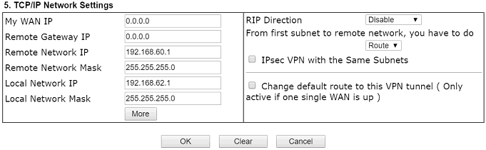 TCP IP Network Settings on VPN Server