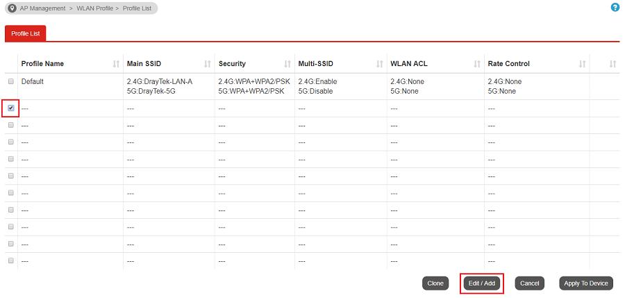 a screenshot of Vigor3900 APM