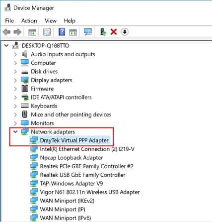 a screenshot of Windows Device Manager