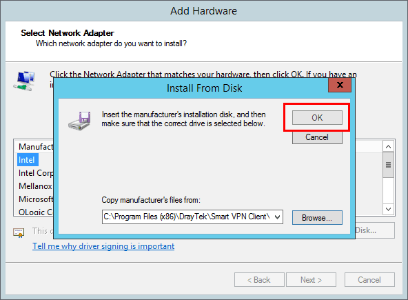 a screenshot of Windows Add Harware Wizard