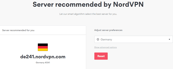 a screenshot of NordVPN Server settings