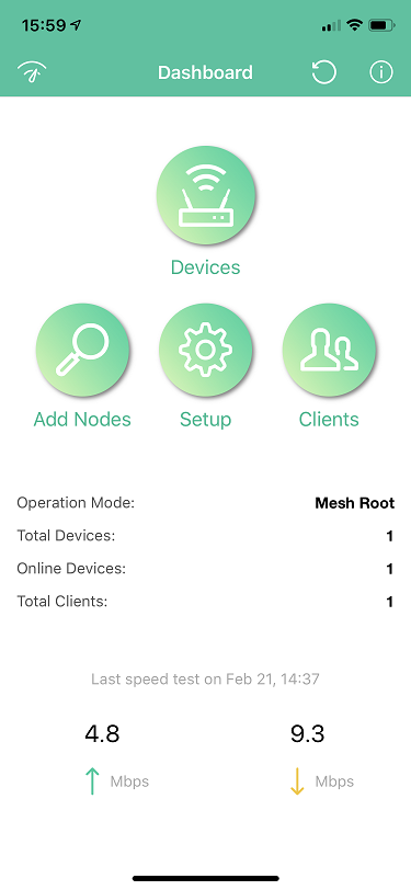 a screenshot of DrayTek Wireless App on iOS