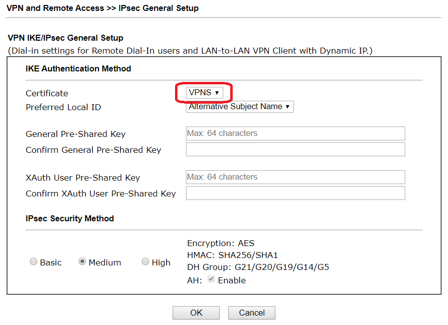 select vpn cert