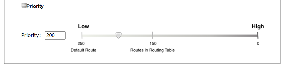 a screenshot of DrayOS Poliy-based routing setup