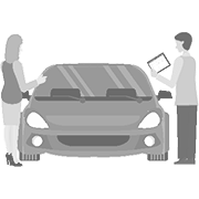 car dealership illustration