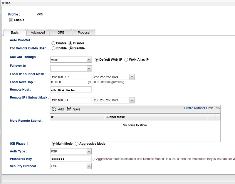 Vigor3900 to FortiGate(FortiOS 5 4 0) - IPsec - DrayTek Corp