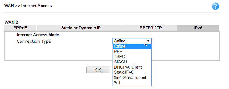 How to configure IPv6 on WAN interface? - DrayTek Corp