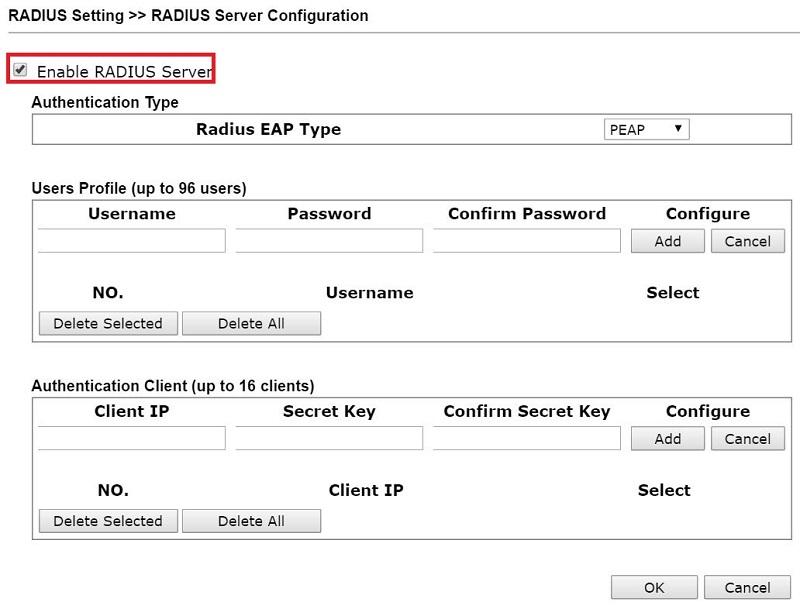 How to use VigorAP as a RADIUS server? - DrayTek Corp