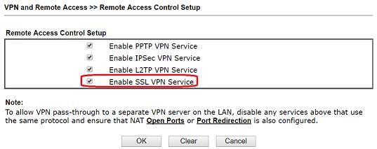 VPN connection between Vigor Router and Vigor3900 - SSL VPN