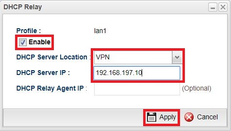 Vigor3900] How to use DHCP relay over the VPN tunnel