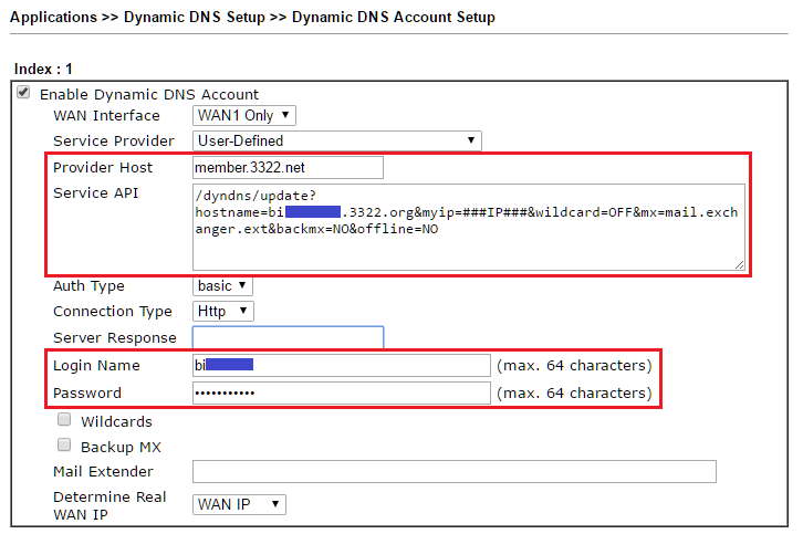 How to use Dynamic DNS (DDNS) with a user-defined service provider