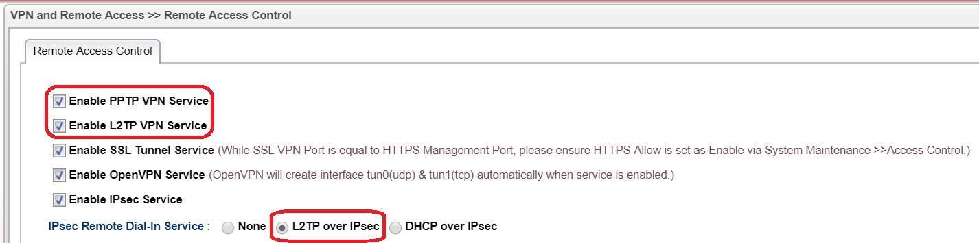 Windows 10 built-in VPN to Vigor3900 – PPTP/ L2TP over IPsec