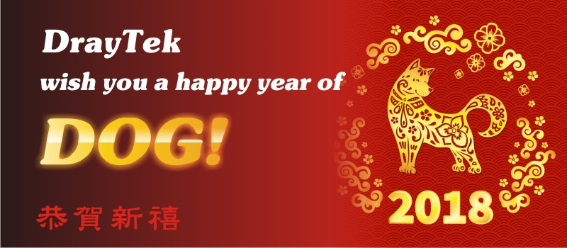 2018 Lunar New Year Holidays (15th Feb. to 20th Feb.) in Taiwan