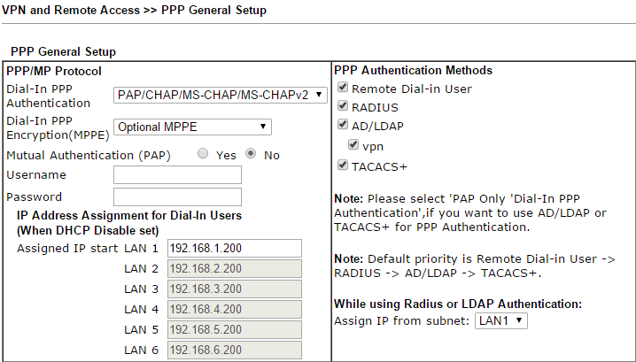 How to authenticate Host-to-LAN VPN with RADIUS server? - DrayTek Corp.