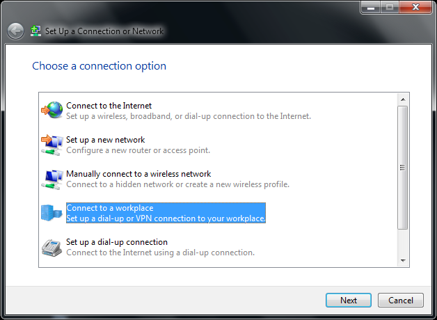 4.Set Up a Connection or Network