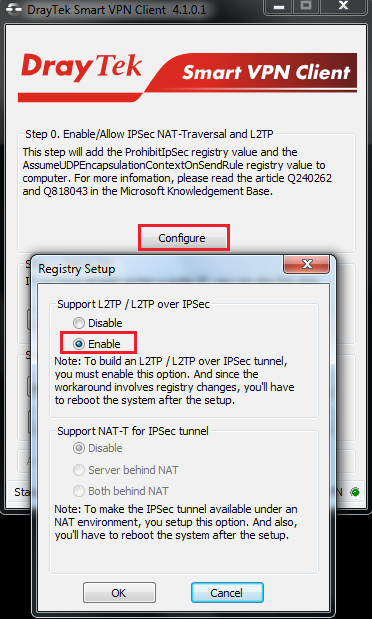 rt VPN Client to Vigor3900 – PPTP L2TP