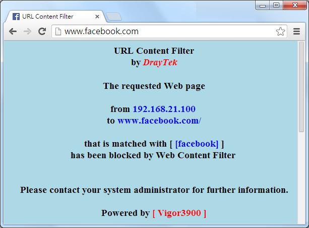 How to Use URL Filter on Vigor3900? | DRAYTEK USA